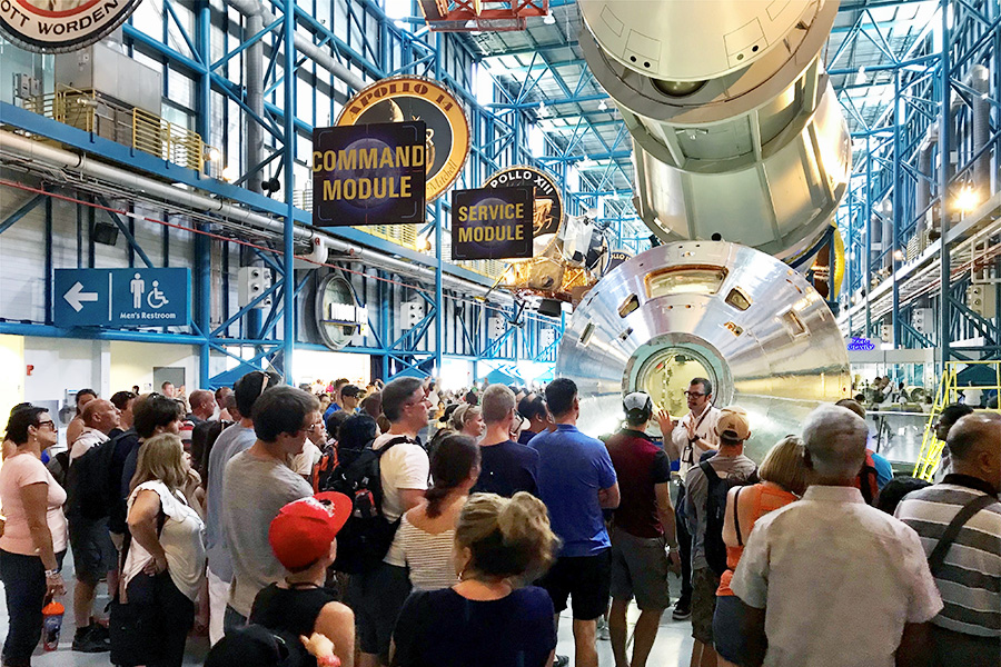 Tours are offered at the Apollo Saturn V Center.