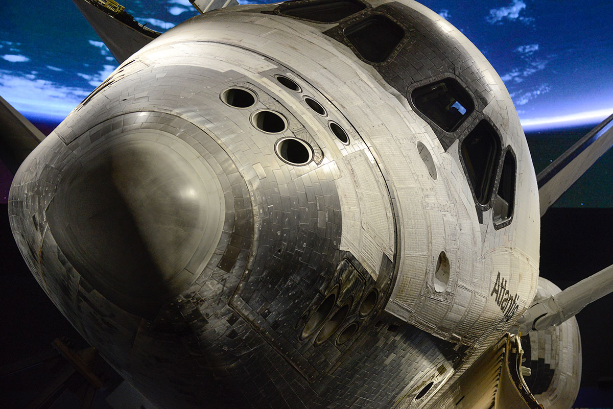 Nose to nose with the orbiter Atlantis