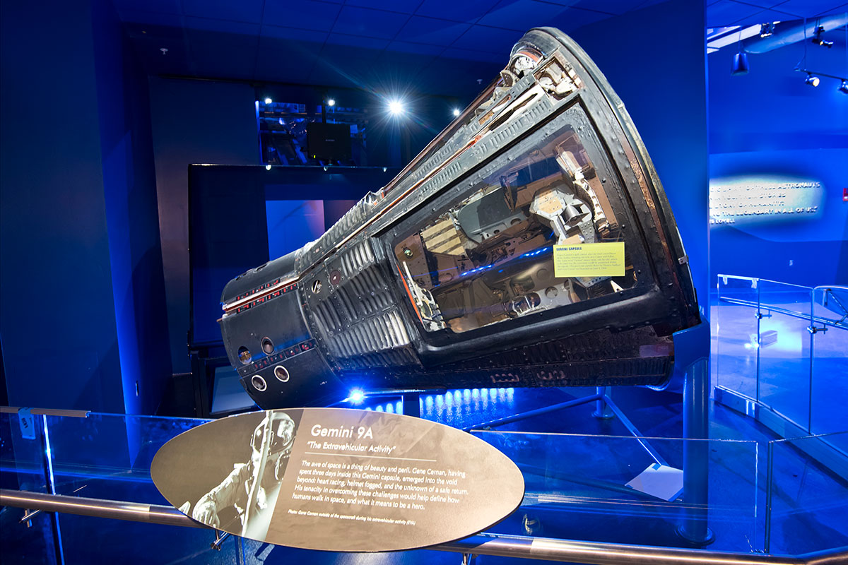 Gemini 9A capsule in the Heroes & Legends exhibit.