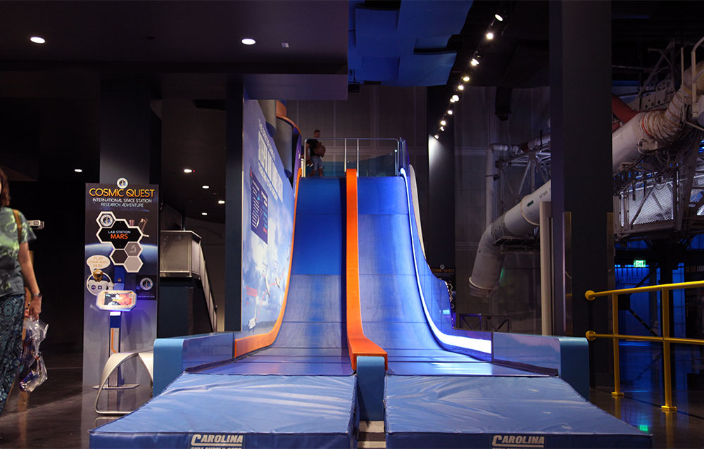 Front view of the Atlantis slide