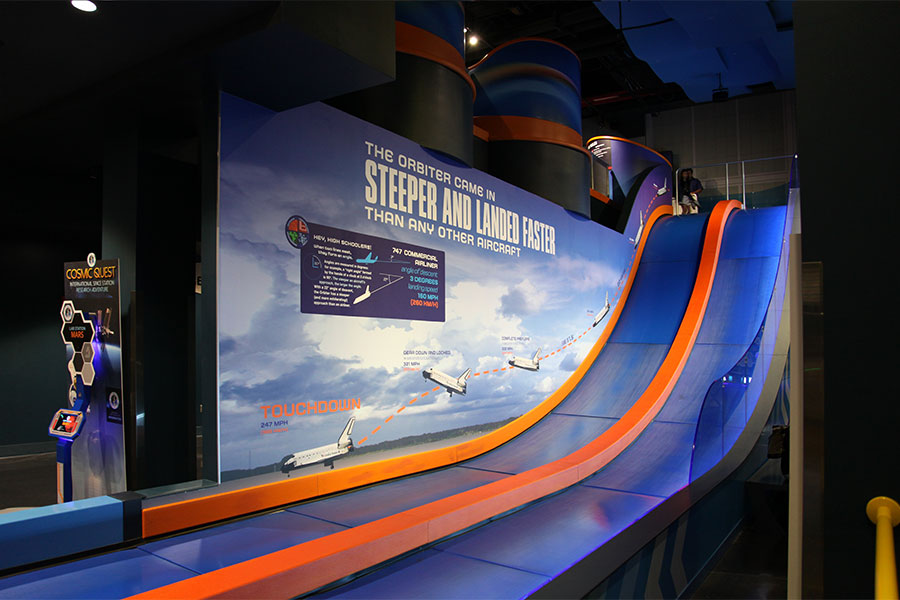 Side view of the Atlantis slide