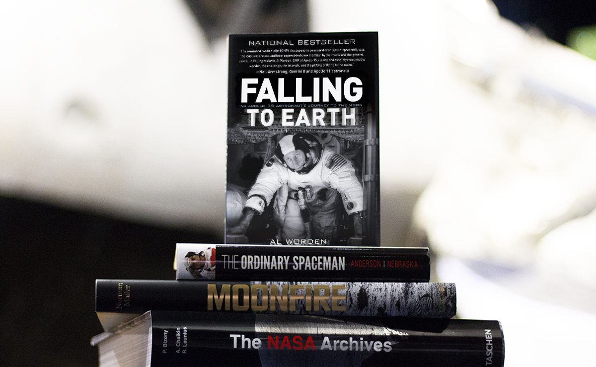 Five books every space enthusiast needs including Falling to Earth by Al Worden.