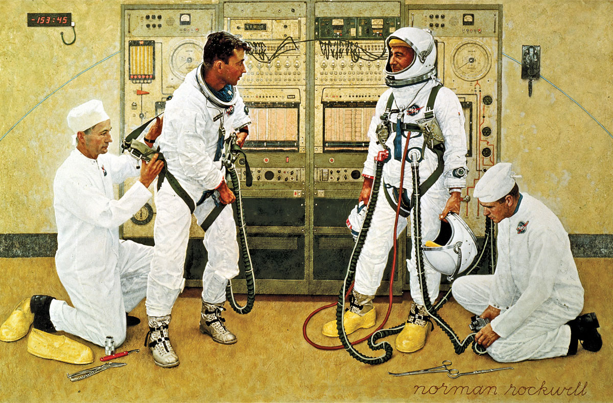 Grissom and Young by Norman Rockwell, 1965