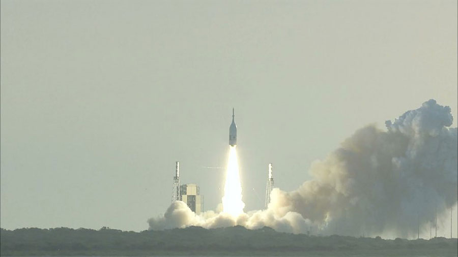 NASA successfully demonstrated the Orion spacecraft's launch abort system can outrun a speeding rocket and pull astronauts to safety during an emergency during launch.