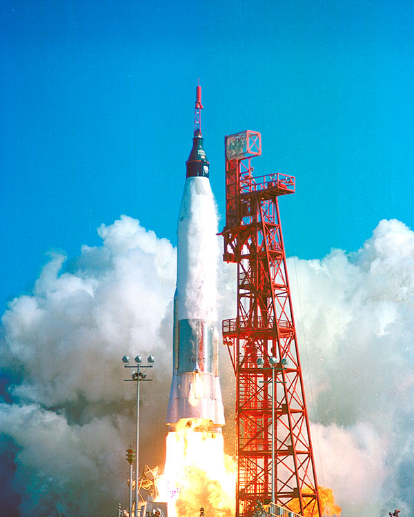 The Mercury-Atas rocket launched on February 20, 1962.
