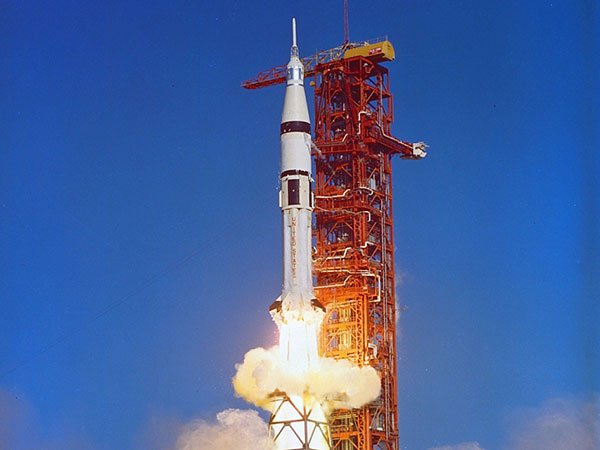 The Saturn 1B launched the Apollo spacecraft into Earth orbit to train for manned flights to the moon.