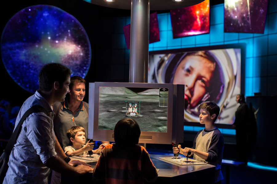 Explore Mars with simulators and interactives at the Journey to Mars: Explorers Wanted attraction at Kennedy Space Center Visitor Complex.
