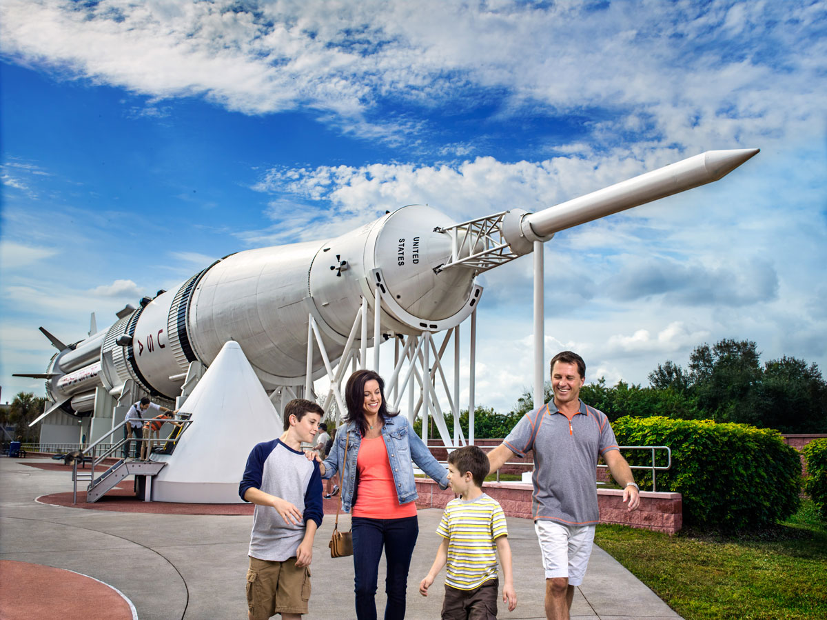 Walk among giants in the Rocket Garden, an experience for all ages at Kennedy Space Center Visitor Complex.