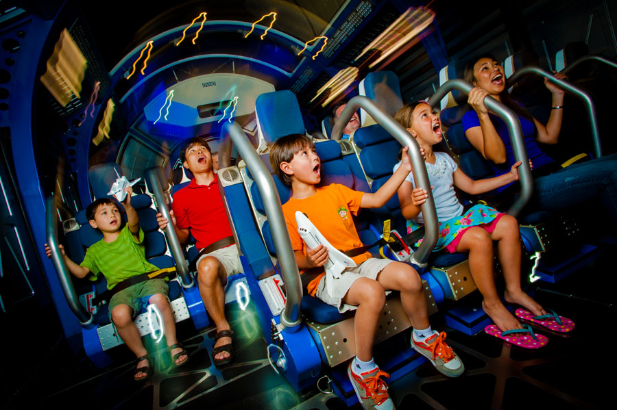 Get vertical and experience a shuttle launch in the Shuttle Launch Simulator at Kennedy Space Center Visitor Compex.