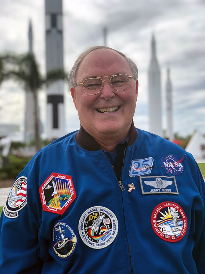 Jerry Ross is a veteran NASA astronaut and joint record holder for most space shuttle flights.