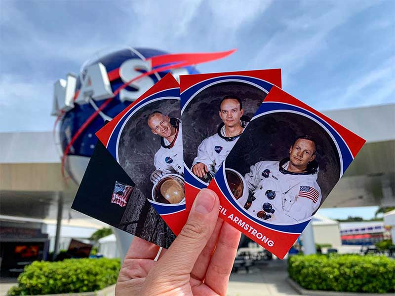 Trading cards for the Apollo 11 anniversary