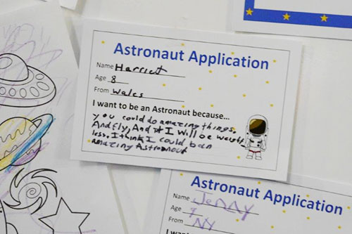 Astronaut Application written by a future explorer