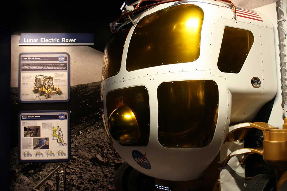 Experience the Lunar Electric Rover in Journey to Mars.