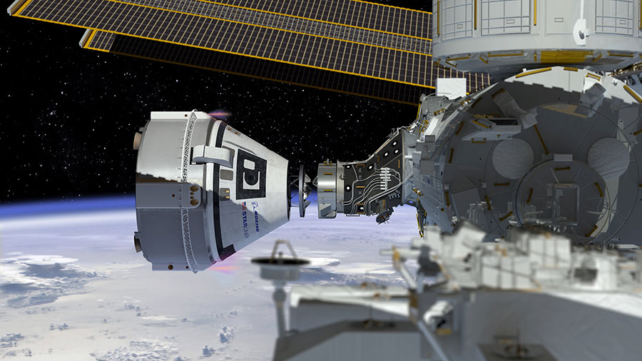 Artist rendering of Boeing CST 100 for the Commercial Crew Launches