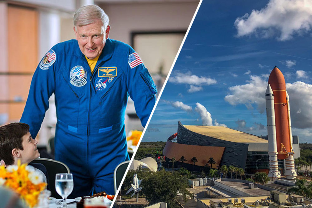 The fun learning doesn't stop! Many exhibits and attractions are available during the government shutdown, include the Space Shuttle Atlantis exhibit and Dine with an Astronaut.