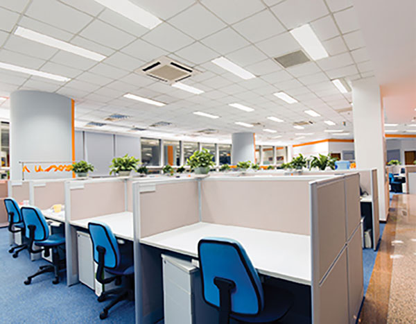 LED lights are often used in offices to help workers stay awake.