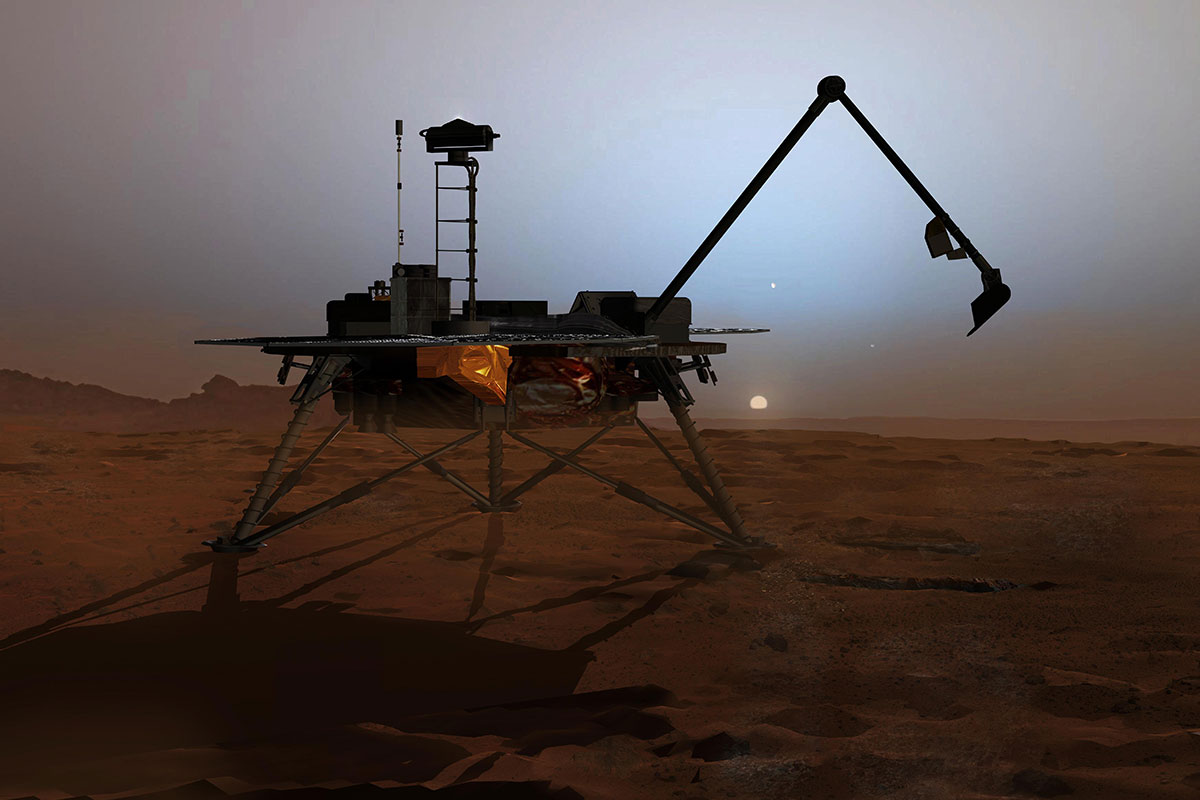 Artist rendering of the Phoenix Mars Lander