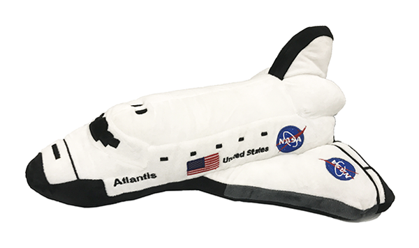Space shuttle Atlantis orbiter plush available at the Space Shop