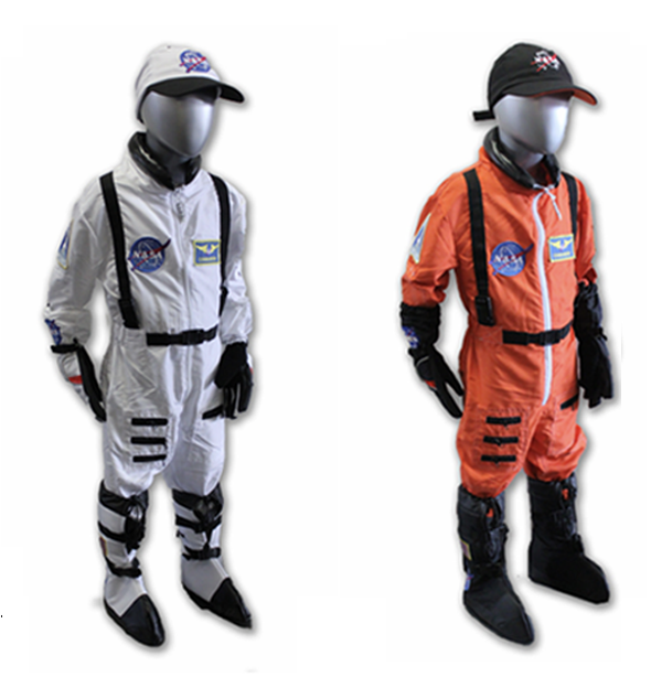 Child astronaut flight suits available at the Space Shop