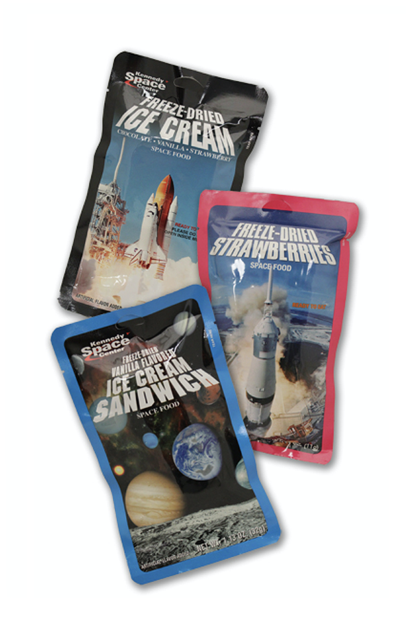 Freeze dried astronaut ice cream available at the Space Shop