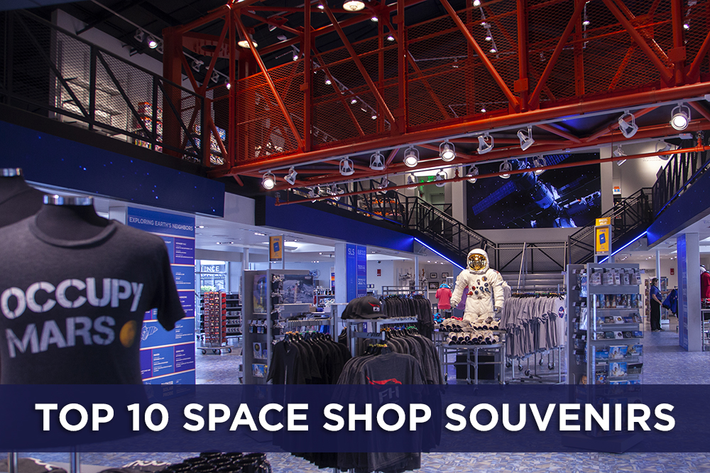 The top 10 most popular space souvenirs at the Space Shop at the Kennedy Space Center Visitor Complex