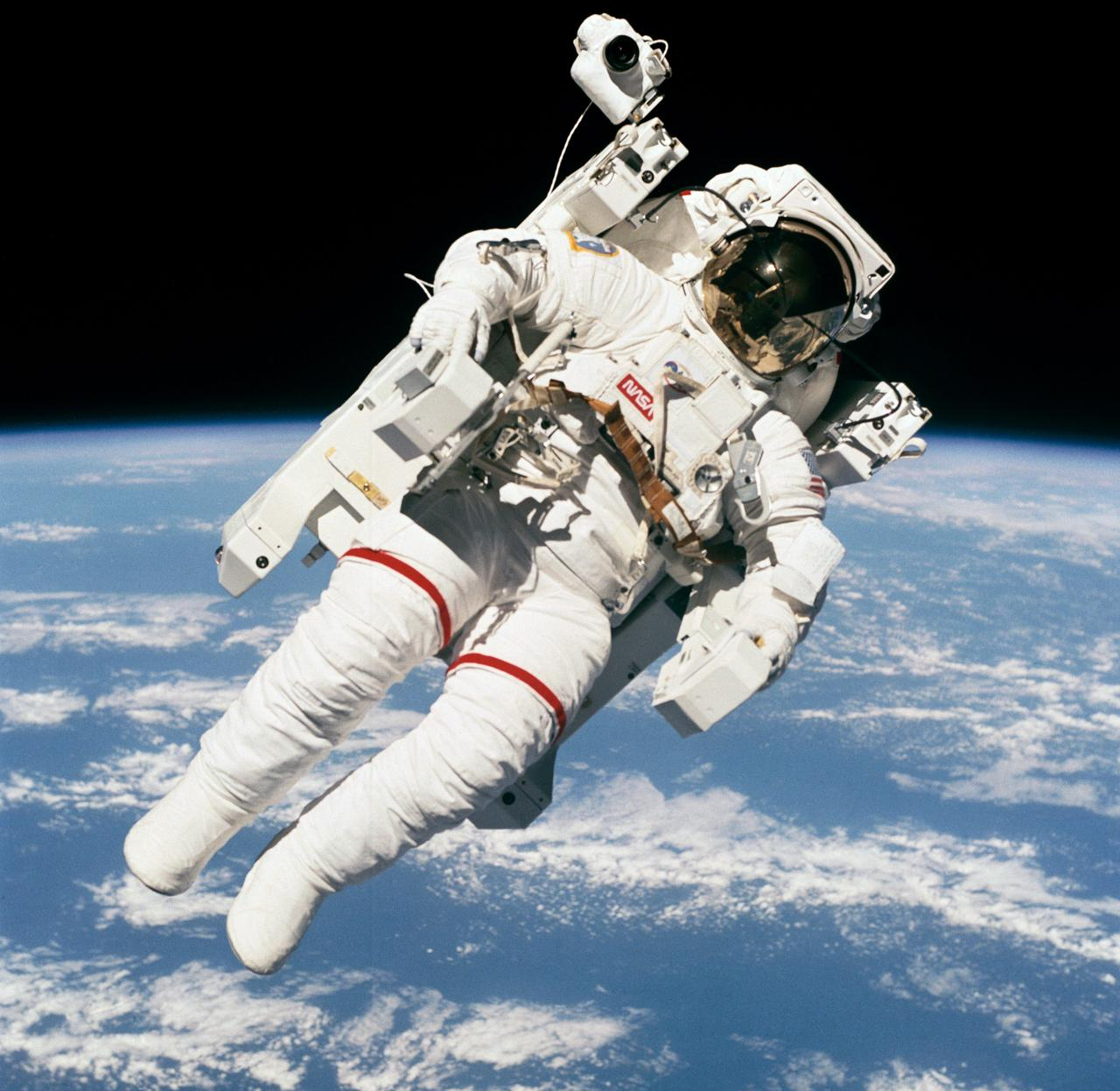 Astronaut Bruce McCandless using the MMU.