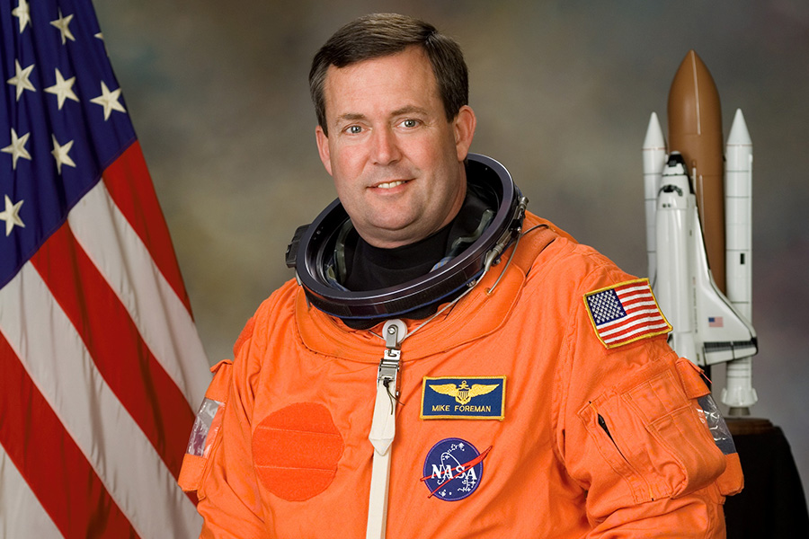 Astronaut Mike Foreman