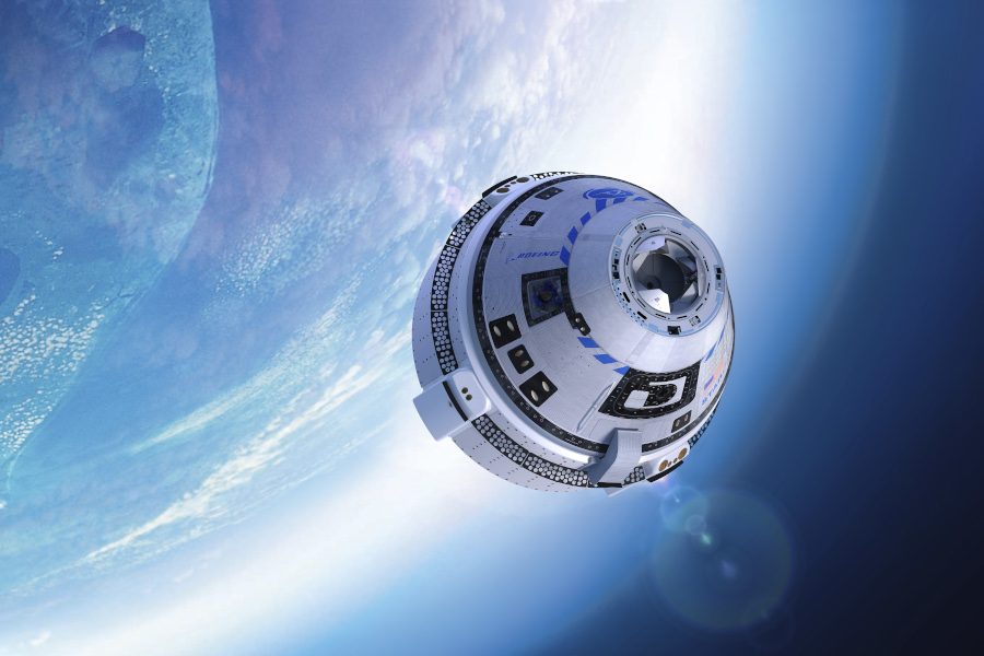 Boeing CST-100 Starliner in space conceptual art