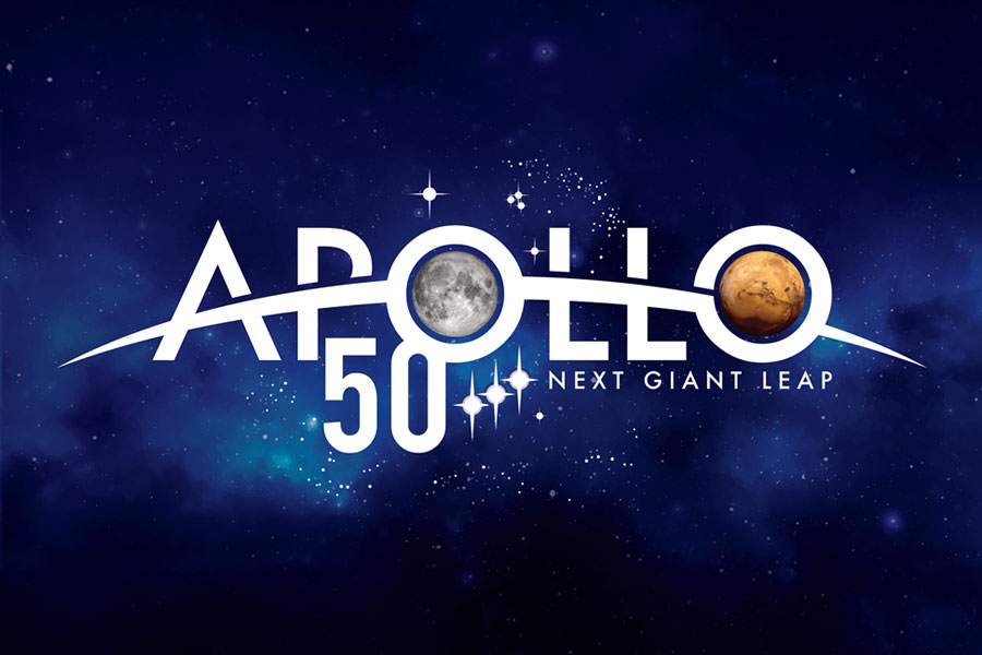 Apollo 50th Anniversary Celebrations logo