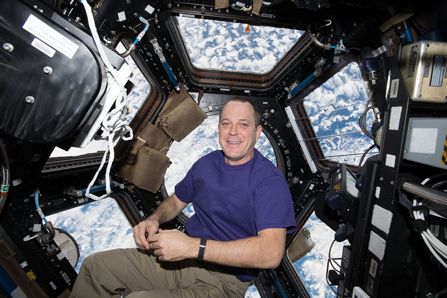 Astronaut Ricky Arnold in the International Space Station.