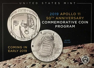 The Kennedy Space Center Visitor Complex will help launch the sale of the United States Mint's Apollo 11 commemorative coins.