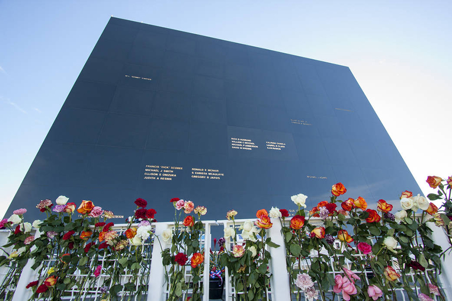 space mirror memorial on NASA