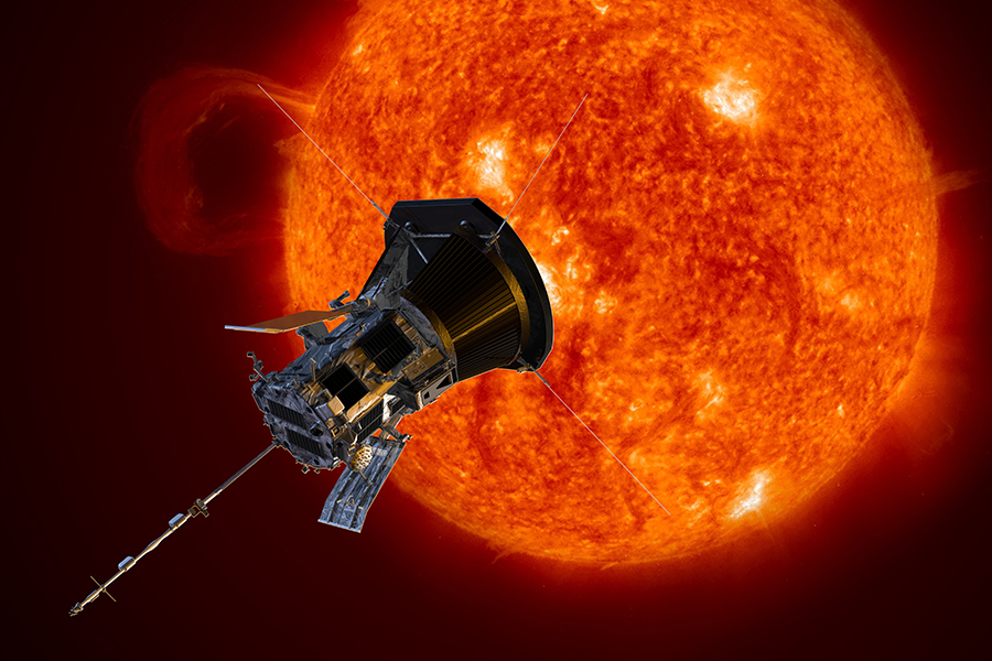 Parker Solar Probe on its way to the Sun