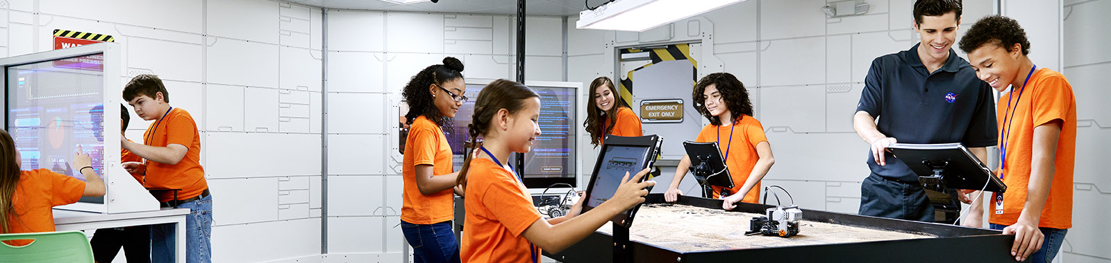 Campers experimenting with robotics to explore Mars