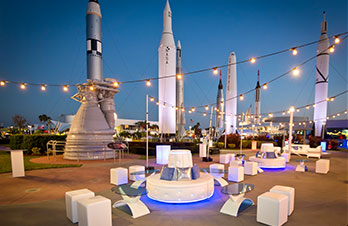 The opportunities are endless with a Park Buyout, including access to the Space Shuttle Atlantis, Rocket Garden and more.