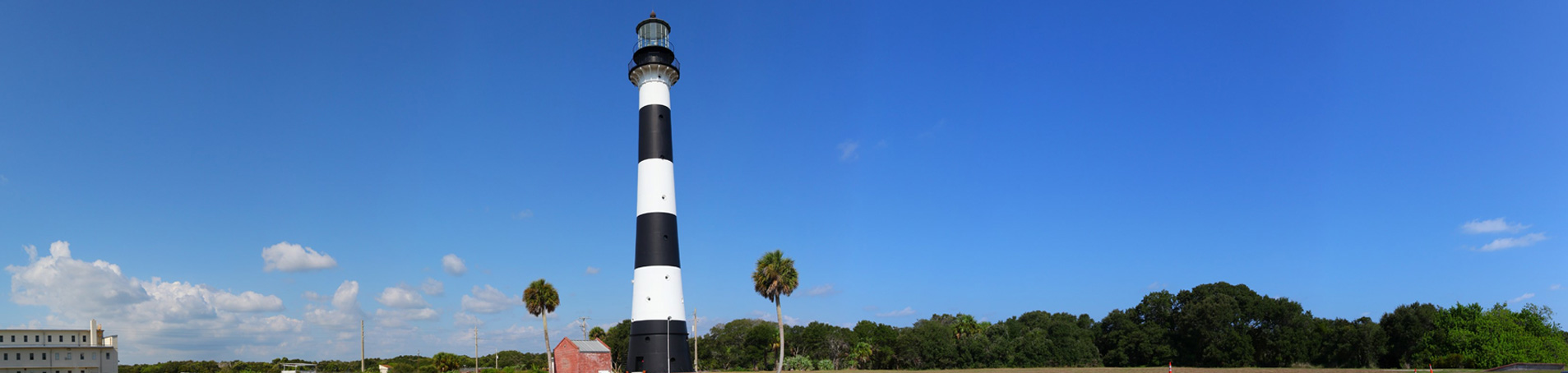 The historic Cape Canaveral Light on Cape Canaveral Air Force Station in Florida, first built in 1848.