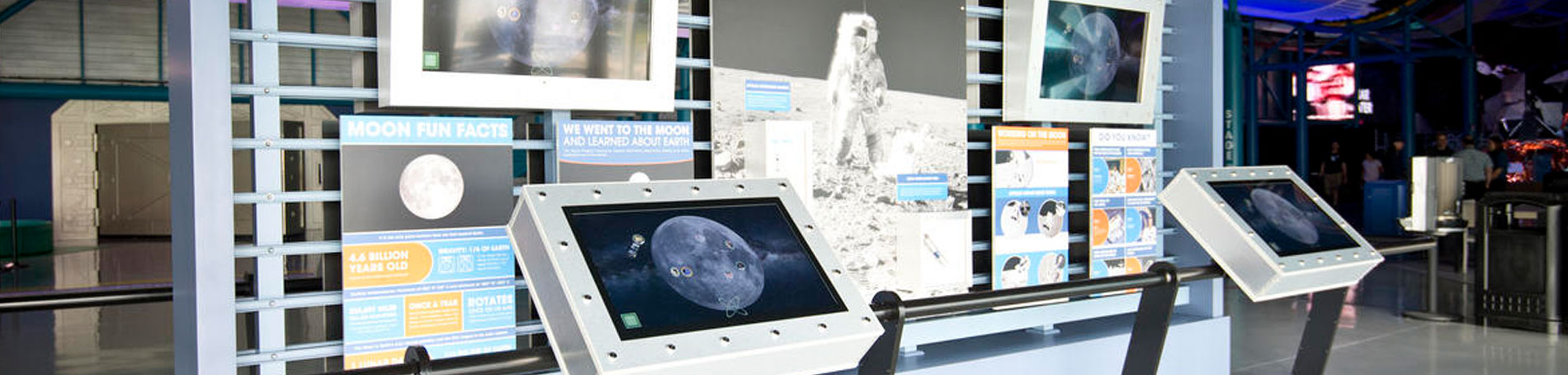 Explore interactive displaying displaying the moon and its six Apollo landing sites.