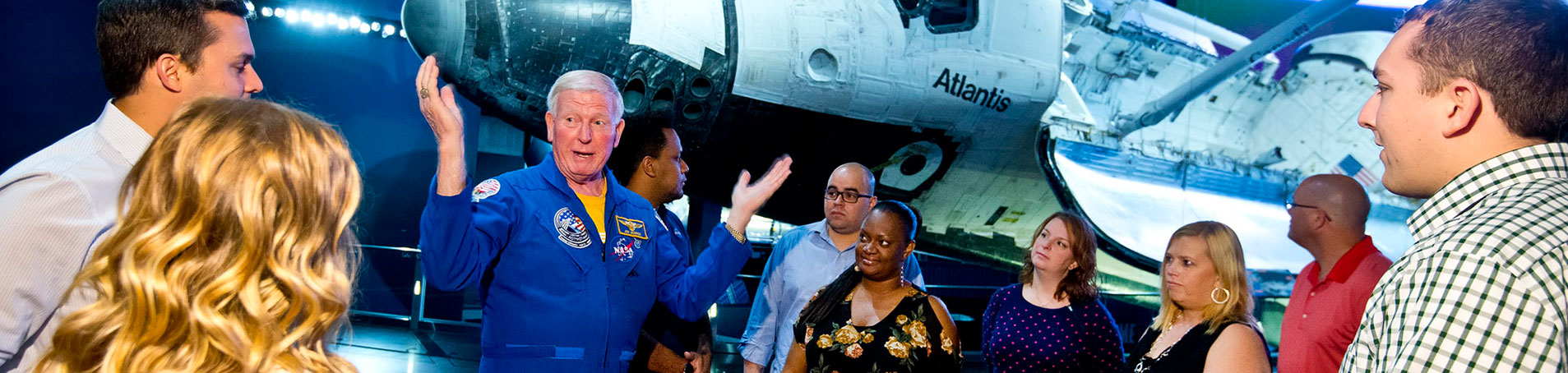 Include a unique experiences in your corporate event, such as a private tour with an astronaut.