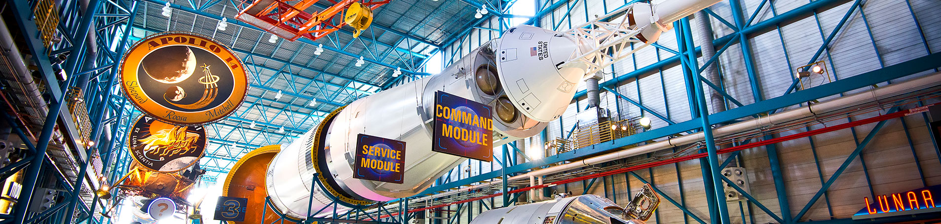 Host a unique private event at the Apollo / Saturn V Center, including dinner beneath a real moon rocket.