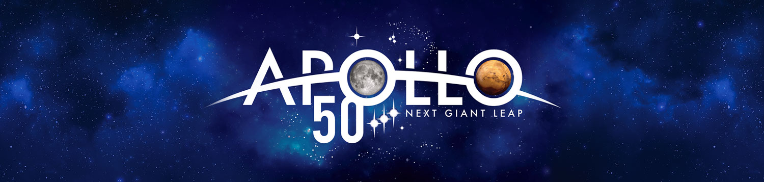 The Apollo 50th anniversary logo