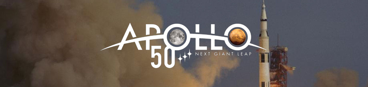Launch of Apollo 12 and the Apollo 50th logo