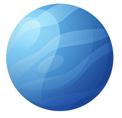 Blue planet graphic