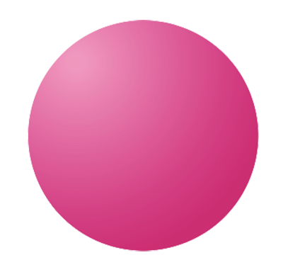 Small pink planet graphic
