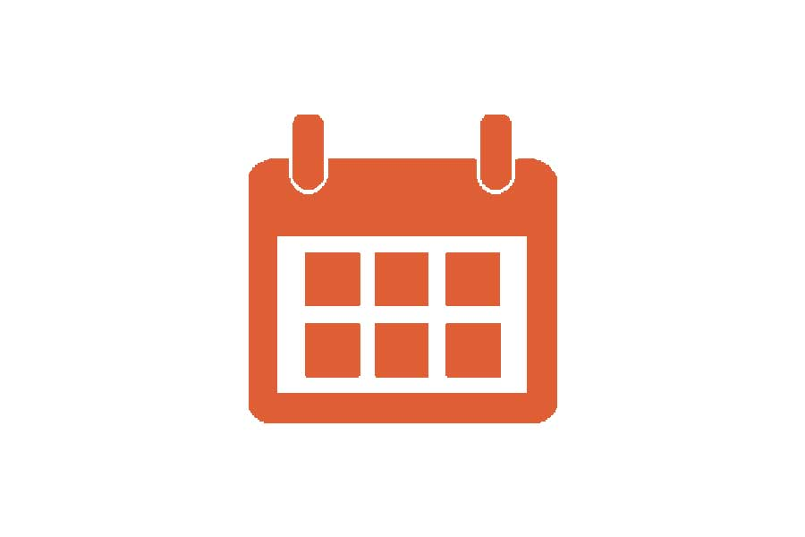 Event calendar icon for cyber monday offer.