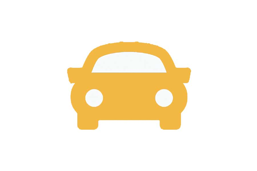 Car icon for cyber monday offer.