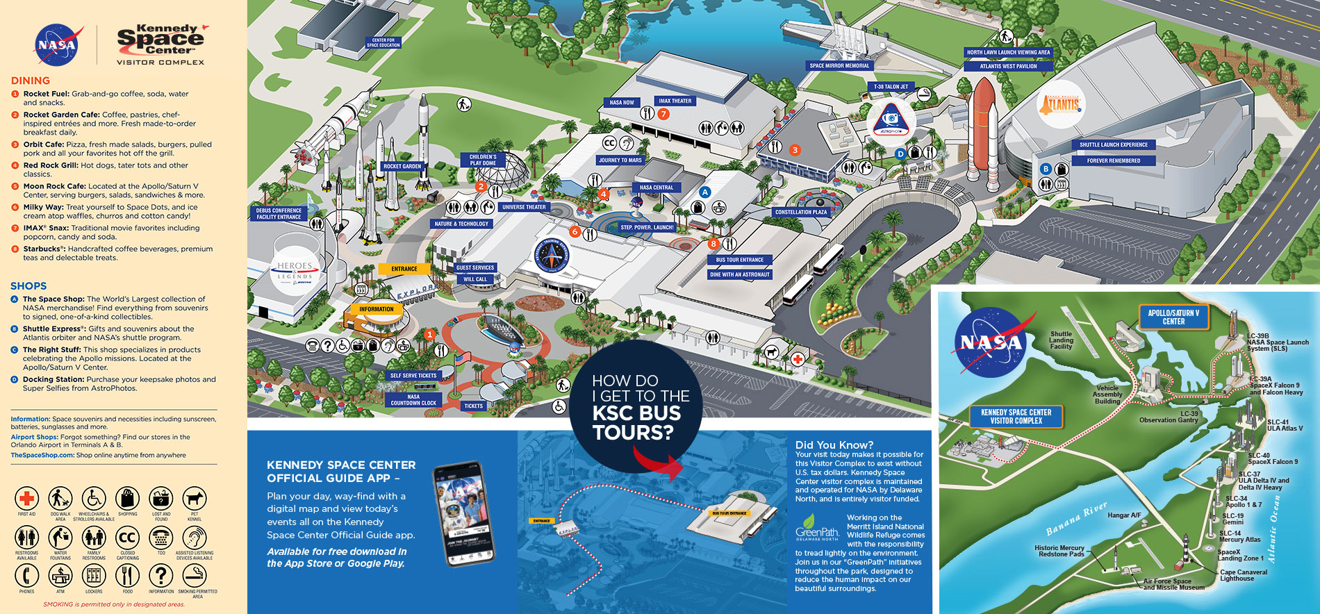 Kennedy Space Center Visitor Complex Map
